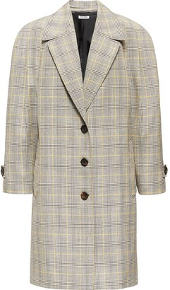 Miu Miu Checked Oversized-Fit Coat