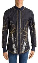 Dolce & Gabbana Sword Printed Long Sleeve Shirt