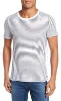AG Jeans Men's Julian Slim Fit Stripe Raw T-Shirt