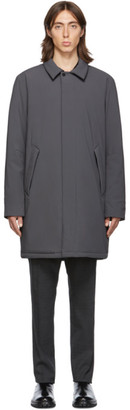 The Very Warm SSENSE Exclusive Grey Shell Filled Mac Coat