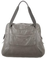 Theory Large Leather Weekender Bag