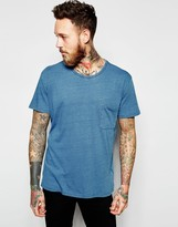 Dr. Denim Russ T-Shirt Mid Wash Blue