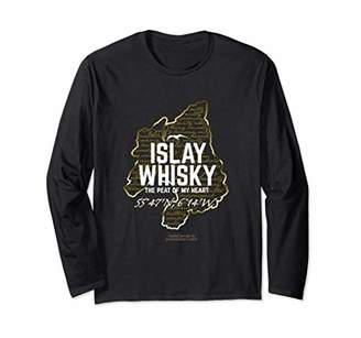 Islay Whisky Peat of my Heart Whiskey Long Sleeve T-Shirt