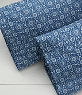 L.L. Bean 280-Thread-Count Pima Cotton Percale Pillowcases, Print Set of Two
