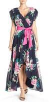 Eliza J Women's Floral Print Chiffon High/low Dress
