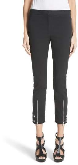 Alexander McQueen Zip Hem Moto Pants