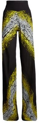 Rick Owens Wide-Leg Leopard Print Trousers