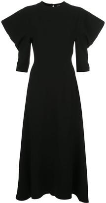 Proenza Schouler Draped Sleeves Midi Dress