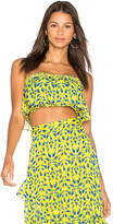 Tanya Taylor Gina Top in Lemon. - size 0 (also in 2,6)