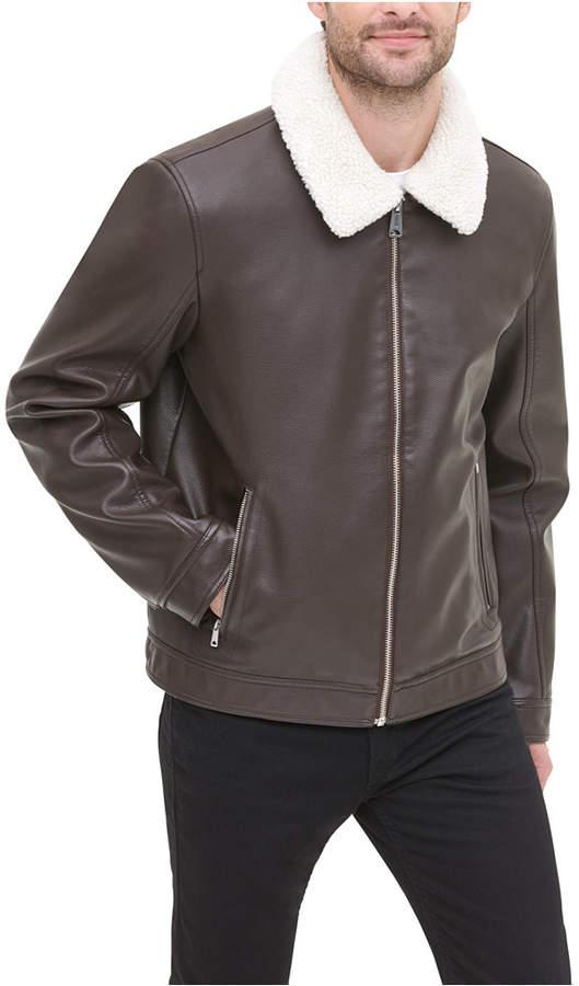a329227c Men Faux-Leather Jacket