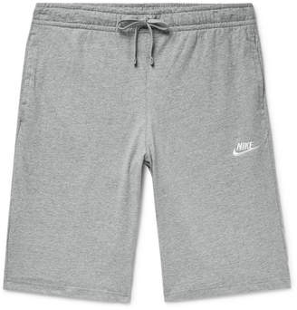 Nike Sportswear Club Melange Cotton-Jersey Drawstring Shorts