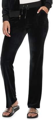 Juicy Couture Women's Velour Midrise Bootcut Pants