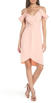 Fraiche by J Cold Shoulder Tulip Hem Dress