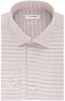 Calvin Klein Men's Steel Classic-Fit Non-Iron Performance Coral Check Dress Shirt