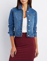 Charlotte Russe Refuged Embroidered Denim Jacket