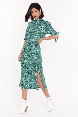 Nasty Gal Womens Can You Spot High Neck Top - Green