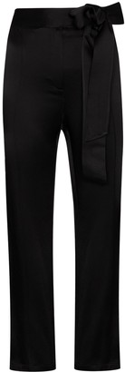 USISI SISTER Gemma tie-waist cropped trousers