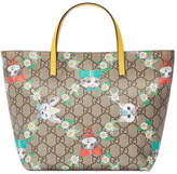 Gucci Children's GG kitten friends tote