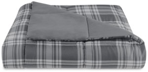 Essentials by Martha Stewart Collection Reversible Plaid Twin Comforter, Created for Macy's Bedding