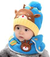WensLTD Baby Toddler Kids Boy Girl Knitted Children's Lovely Spire Soft Hat+Scarf