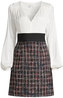 Milly Nicole Check Tweed Dress