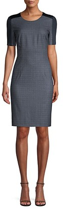 HUGO BOSS Dirusa Stretch Wool Sheath Dress