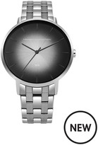 French Connection Black Dial Silver Stainless Steel Bracelet Mens Watch