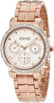 August Steiner Women's ASA841RG Swiss Quartz Multi-Function Crystal Watch