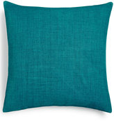 "Hallmart Collectibles Blue Textured 18"" Square Decorative Pillow"