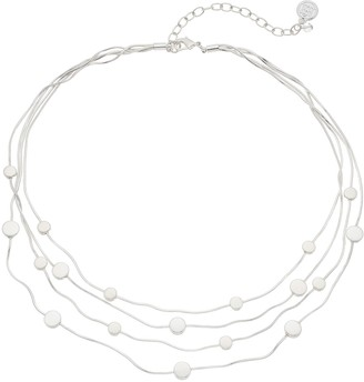 Dana Buchman Disc Multi Strand Station Necklace