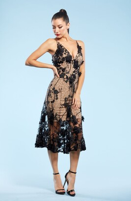 Audrey Embroidered Fit & Flare Dress