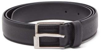 Maison Margiela Screw-effect Buckle Grained-leather Belt - Black