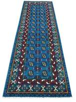 """Blue Area One-of-a-Kind Calcutta Southwestern Hand-Knotted Runner 2'9"""" x 9'5 Rug Isabelline"""
