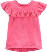 Carter's Short Sleeve Round Neck T-Shirt-Baby Girls