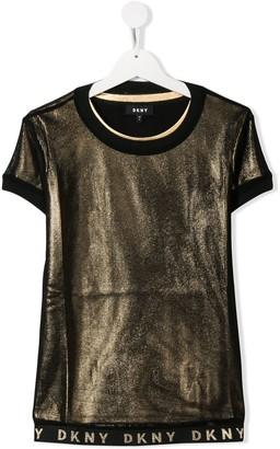 DKNY TEEN logo hem T-shirt
