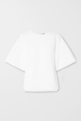 ADAM by Adam Lippes Cotton-poplin Top - White