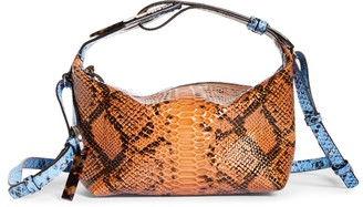 Ganni Slouchy Snake Embossed Leather Crossbody Bag