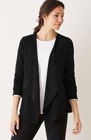 J. Jill Pure Jill Textured Drape-Front Jacket