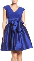 Adrianna Papell Jersey & Taffeta Fit & Flare Dress