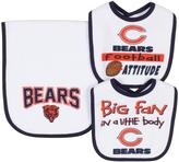 Gerber Chicago Bears Three-Piece Bib & Burp Cloth Set