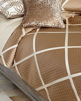 Isabella Collection Queen Braedon Lattice Duvet Cover