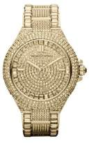 Michael Kors Ladies Camille Goldtone Stainless Steel Watch with Crystals