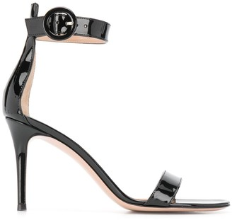 Gianvito Rossi 90mm Circle Buckle Sandals