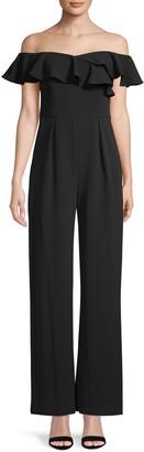 Calvin Klein Ruffle Off-The-Shoulder Jumpsuit