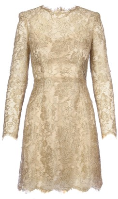 Dolce & Gabbana Lace Long Sleeves Dress