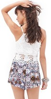 Forever 21 kaleidoscope print crepe shorts