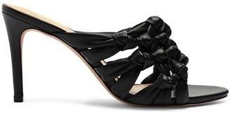 Alexandre Birman Solange Intreccio Leather Mule Sandals