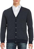 Black Brown 1826 Striped Cardigan