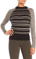 DKNY Long Sleeve Striped Pullover Sweater