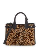 Burberry Animal-Print Calf Hair Small Satchel Bag, Camel